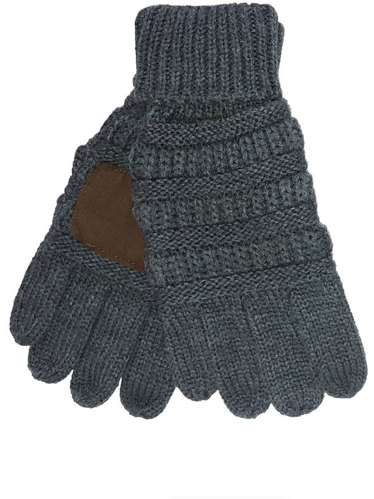 C.C GL-20KID Dark Melange Grey Gloves