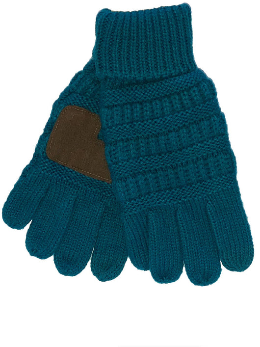 C.C G-20KID Teal Gloves
