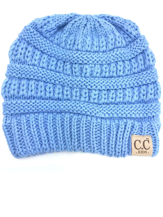 YJ-847 Youth Beanie Pale Blue