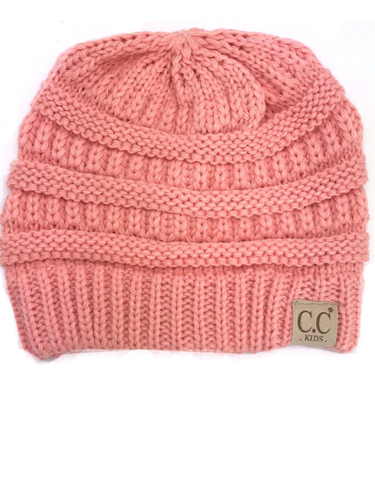 YJ-847 Youth Beanie Peach