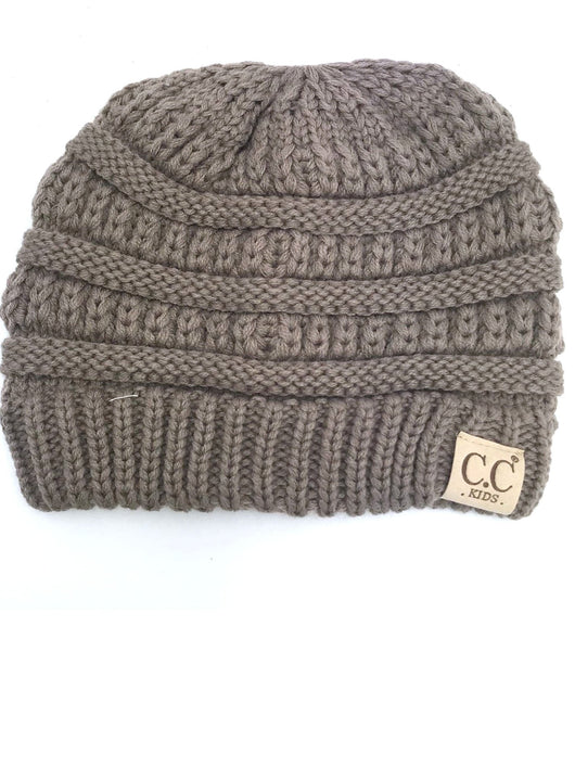 YJ-847 Youth Beanie Taupe