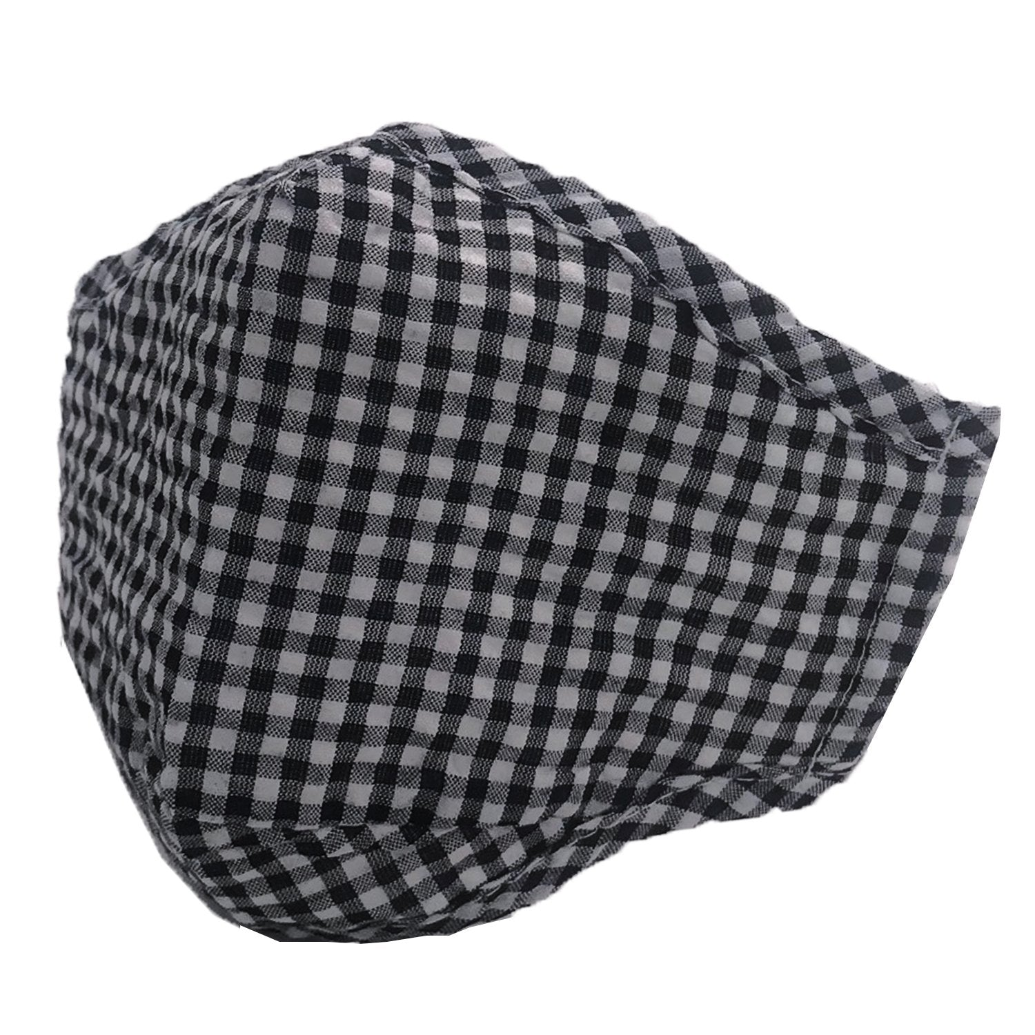 ADULT MASK GINGHAM BLACK