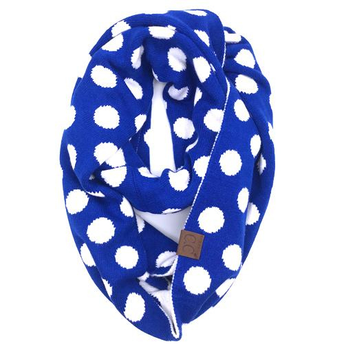 PD-INF-21 SCARF ROYAL/WHITE