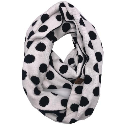 PD-INF-21 SCARF WHITE/BLACK