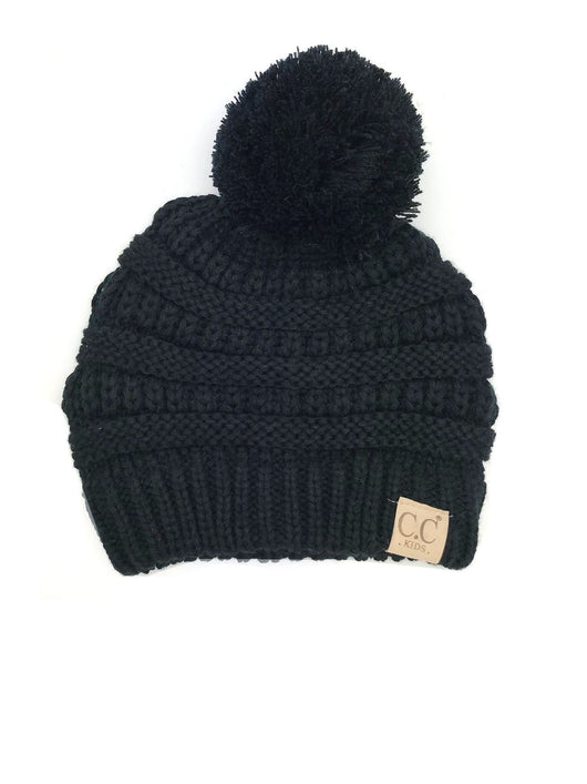 YJ-847 POM Black Youth Beanie