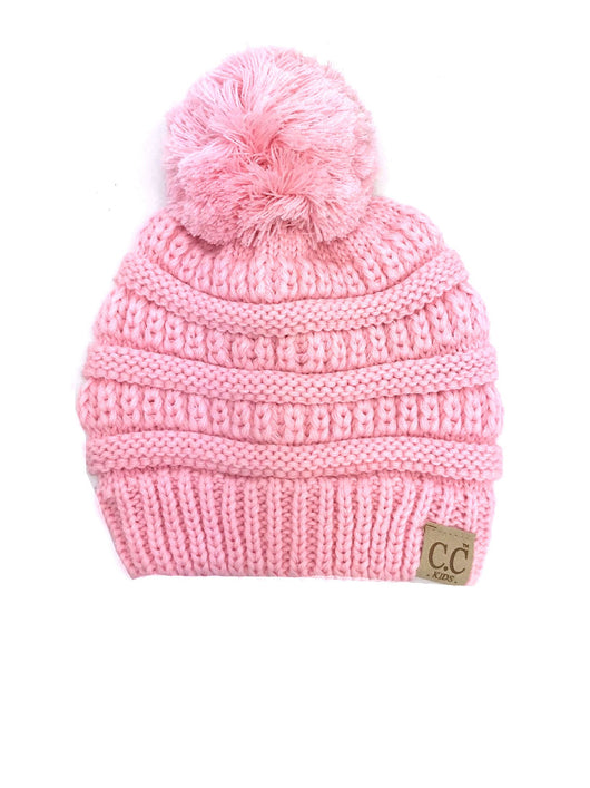 POM-YJ-847 Youth Beanie Pale Pink
