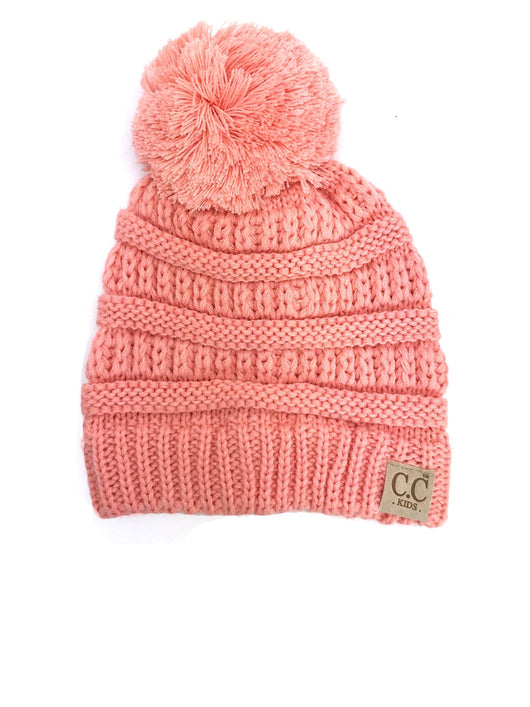 YJ-847 POM Peach Youth Beanie