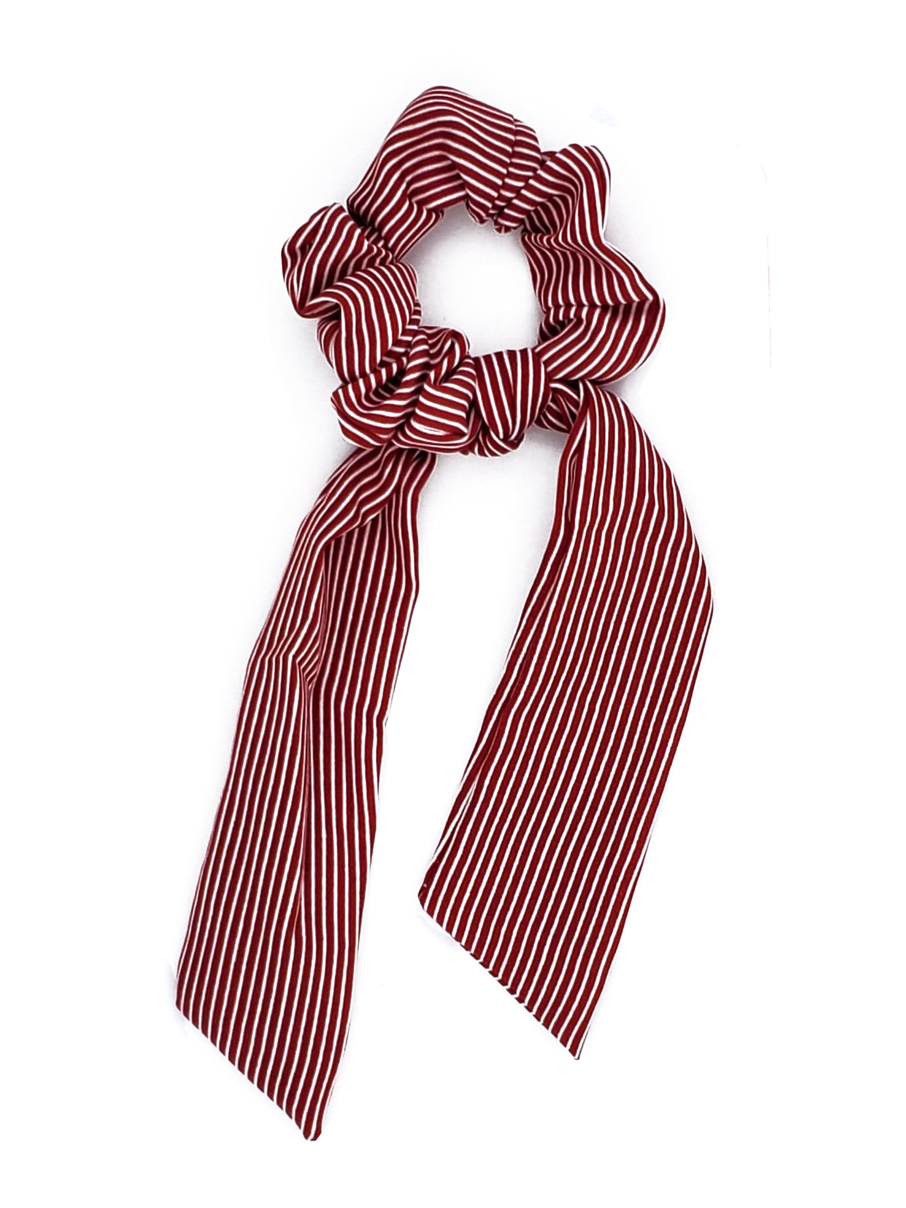 SCT-1001 Red Stripe Scrunchie