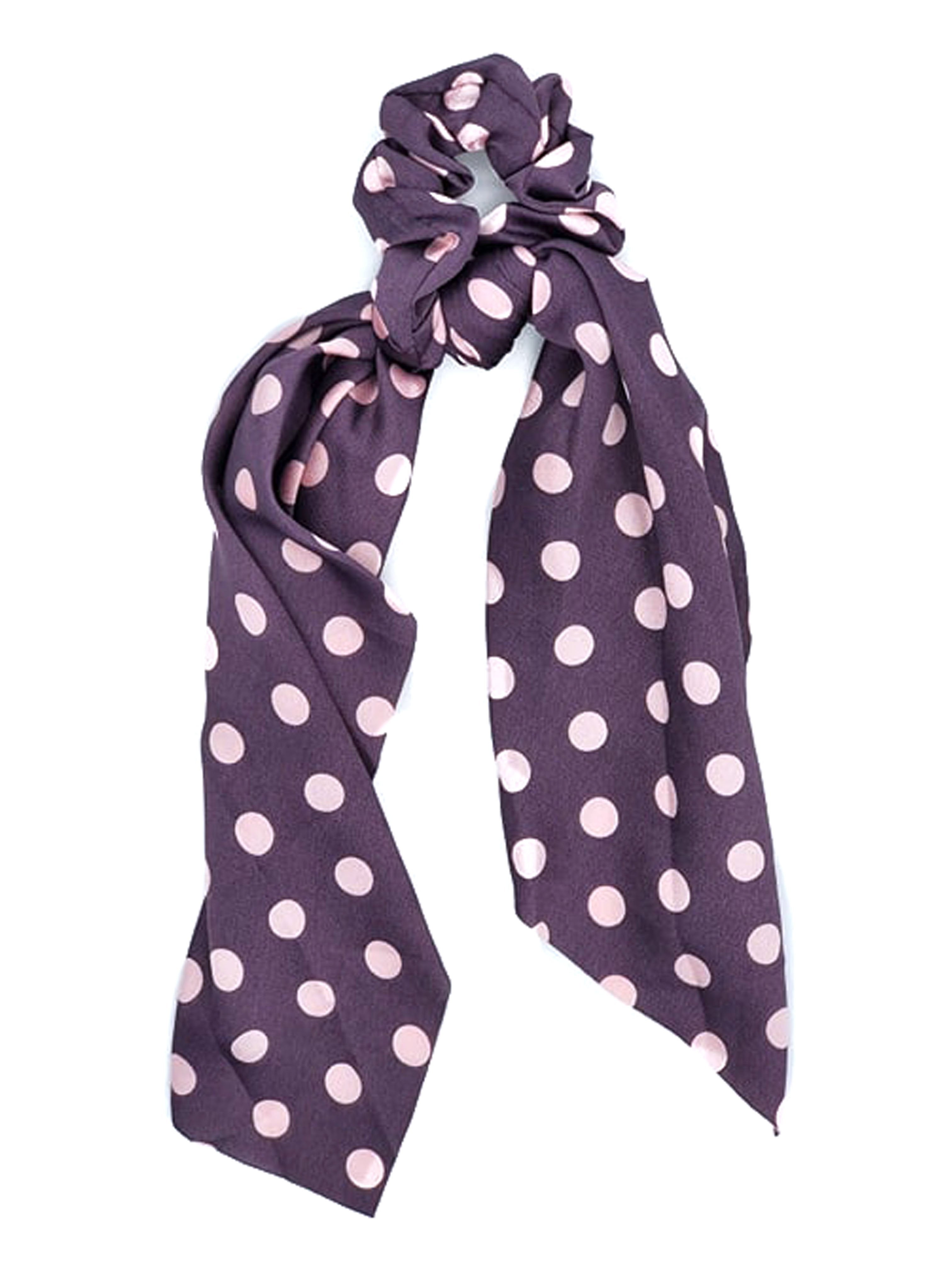 SCT-1025 Purple Pink Dot Scrunchie