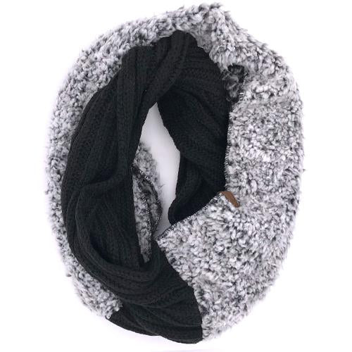 SF-88 SHERPA BLACK HEATHER/BLACK INFINITY SCARF