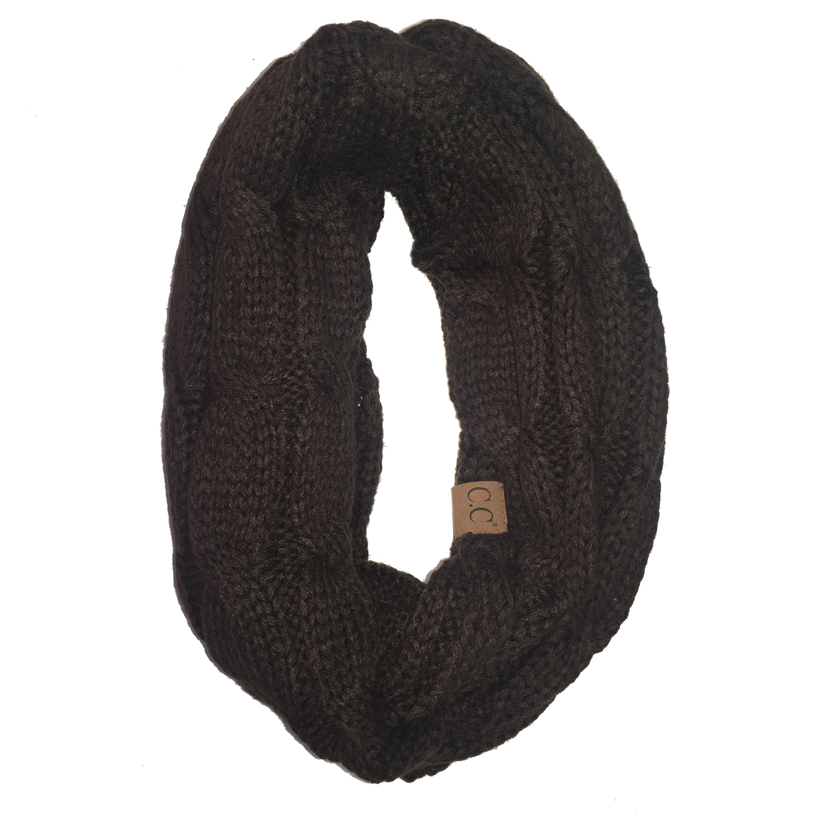 SF20-Brown Infinity Scarf