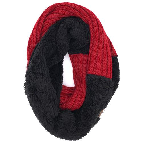 SF-88 SHERPA RED/BLACK INFINITY SCARF