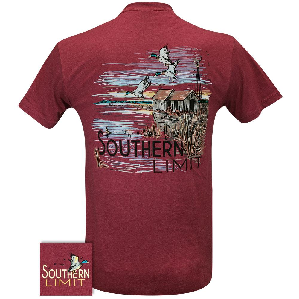 Southern Limit Duck Camp 87 Cardinal Short Sleeve