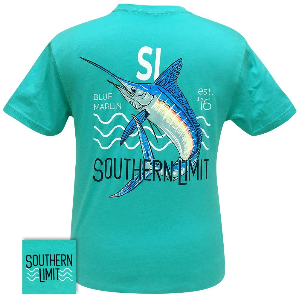 Southern Limit-71 Blue Marlin Tahiti Blue Short Sleeve