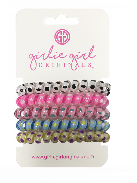 TC-DOT-1 Telephone Cord Hair Ties