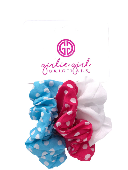 SCR-14-DOT Assorted Scrunchies
