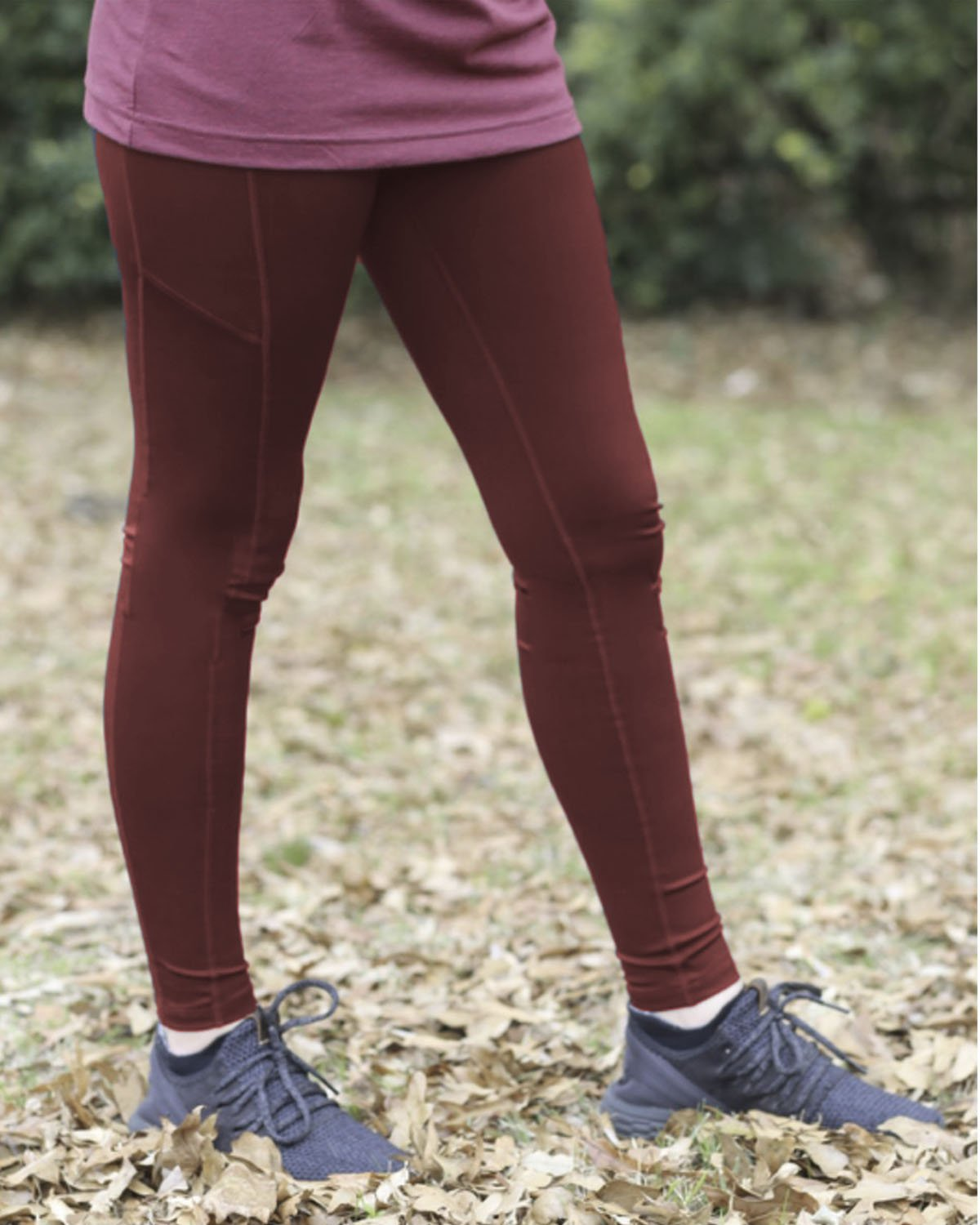 LG-1824 Burgundy Leggings