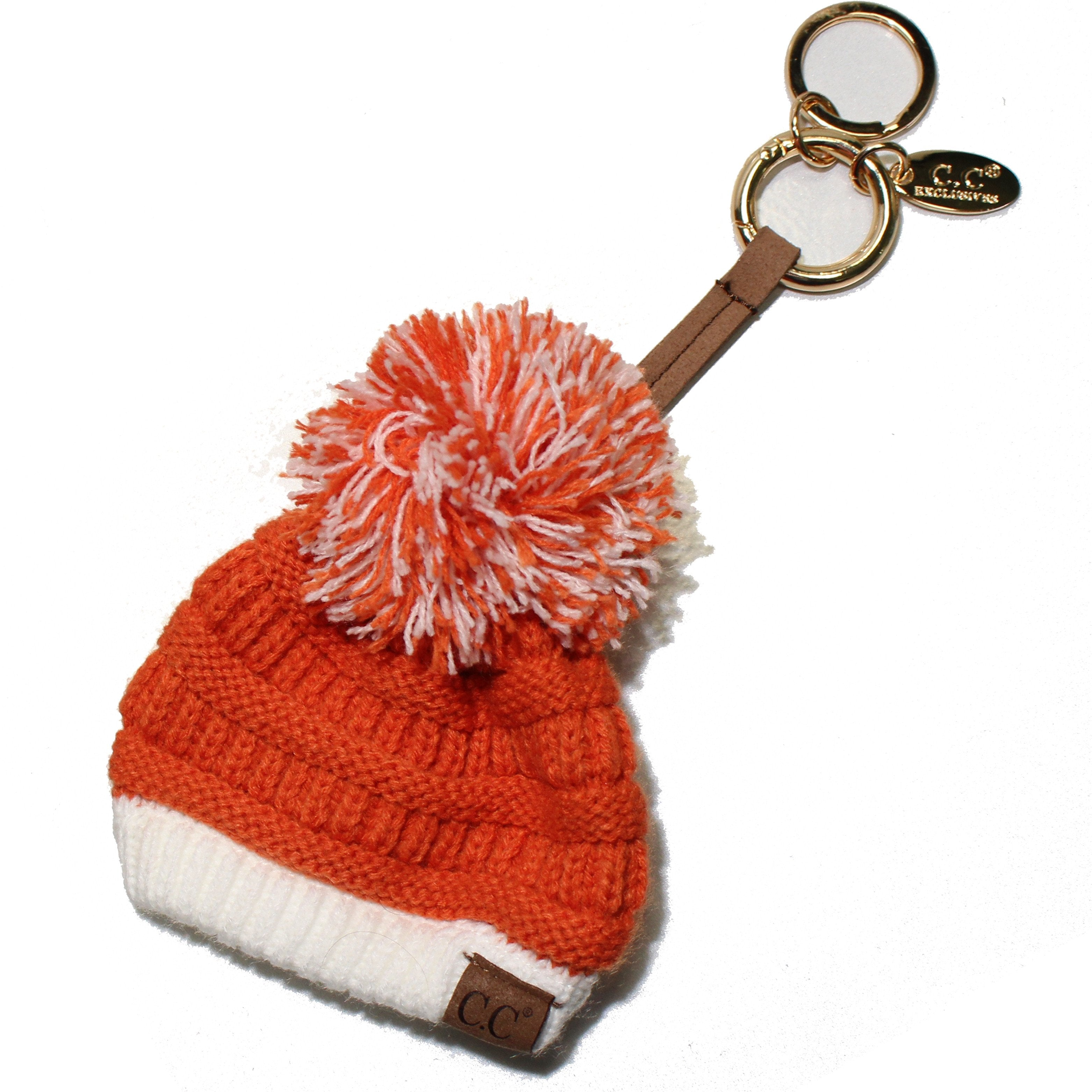 KB-56-9 Game Day Beanie Keychain Dark Orange