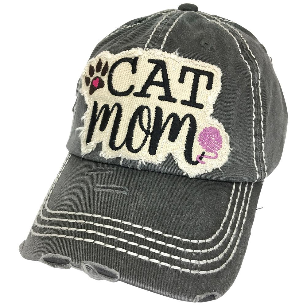 KBV-1260 Cat Mom Cap Black