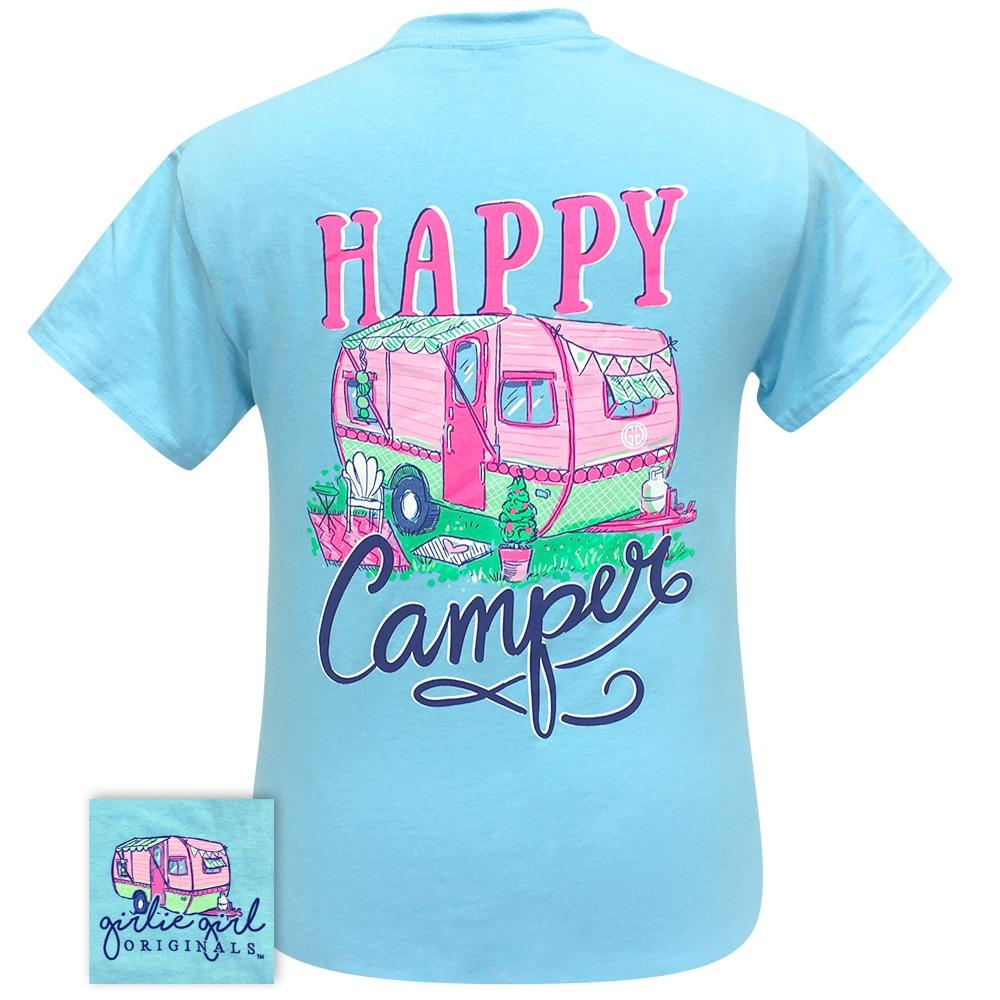 Happy Camper Sky Blue 2258 Short Sleeve
