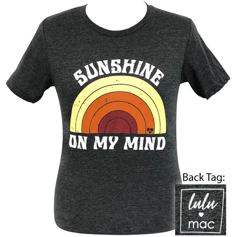 lulu mac-Sunshine On My Soul Dark Grey Heather-10 Short Sleeve