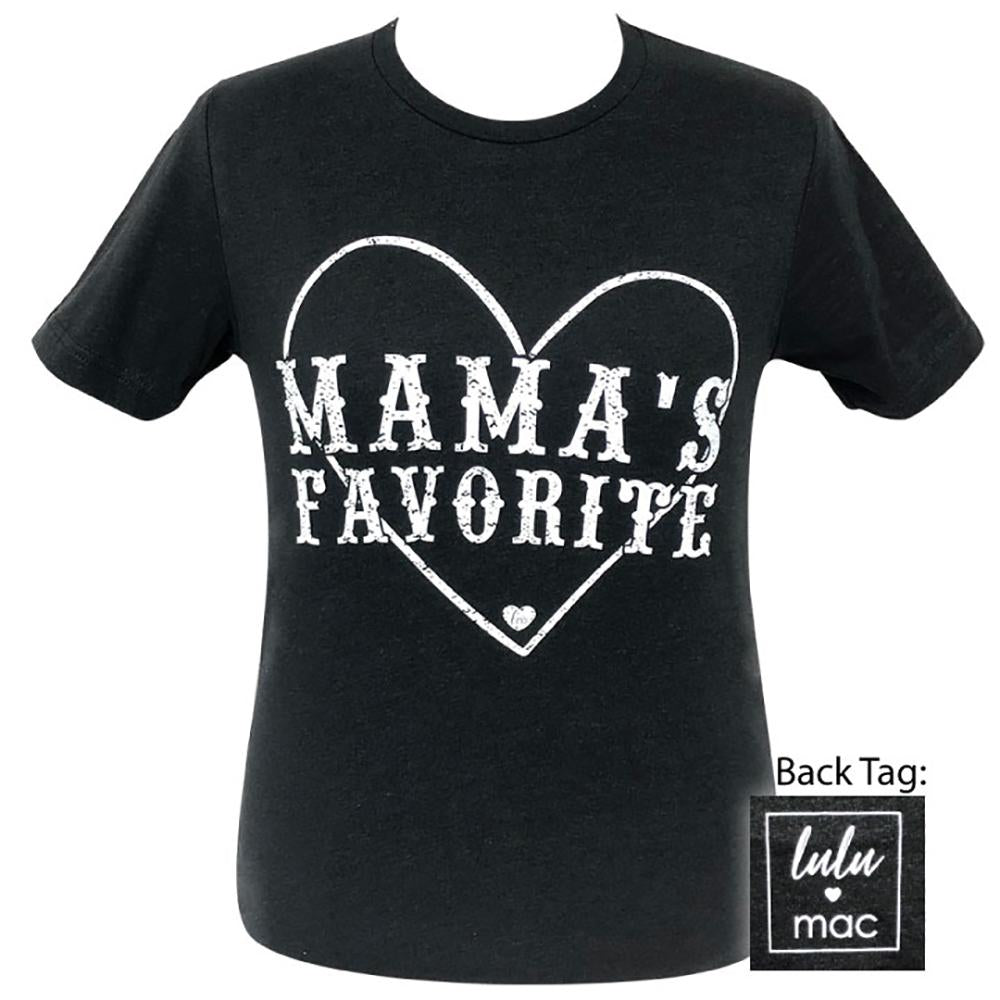lulu mac-Mama's Favorite Black Heather-12 Short Sleeve