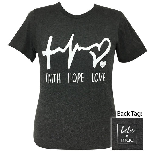 lulu mac-Faith Hope Love Dark Grey Heather-2 Short Sleeve