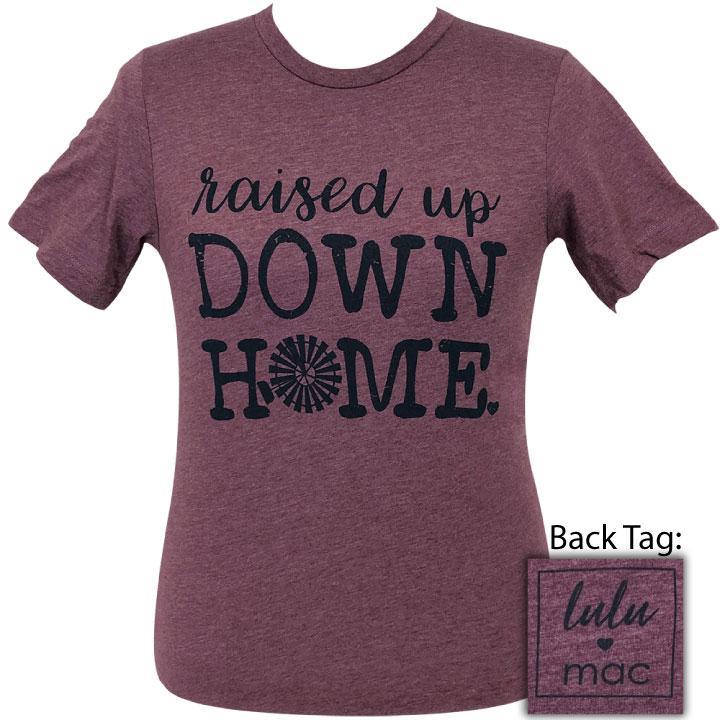 lulu mac-22 Down Home Heather Maroon Short Sleeve