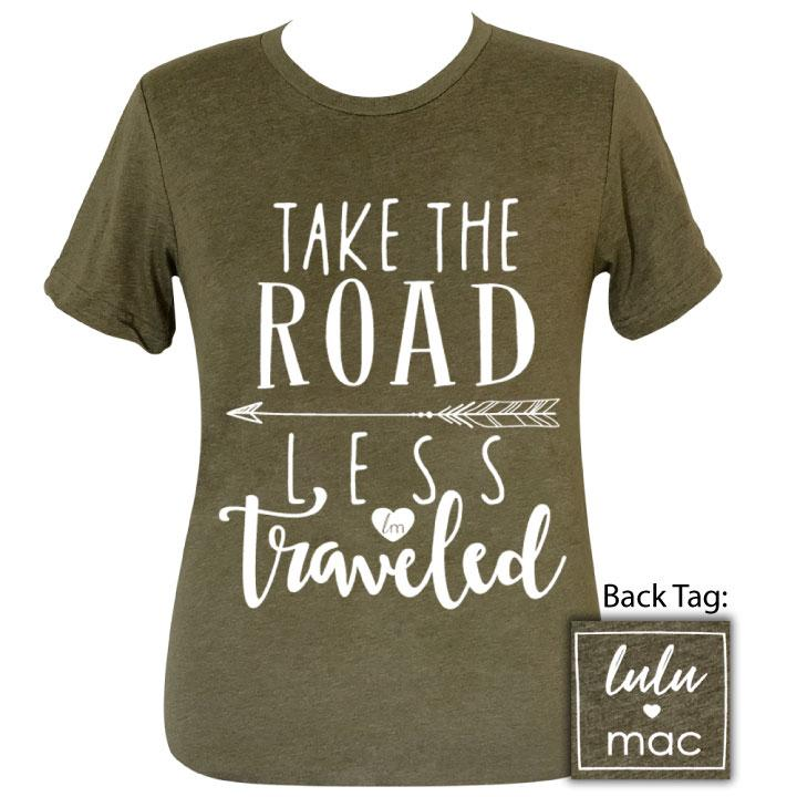 lulu mac-Road Less Traveled Heather Olive- 23 Short Sleeve