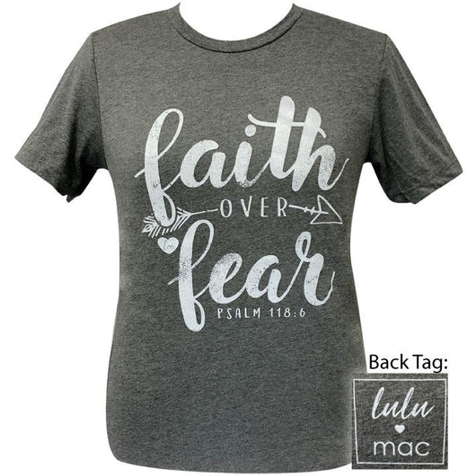 lulu mac- Faith Over Fear 2 Deep Heather- 24 Short Sleeve