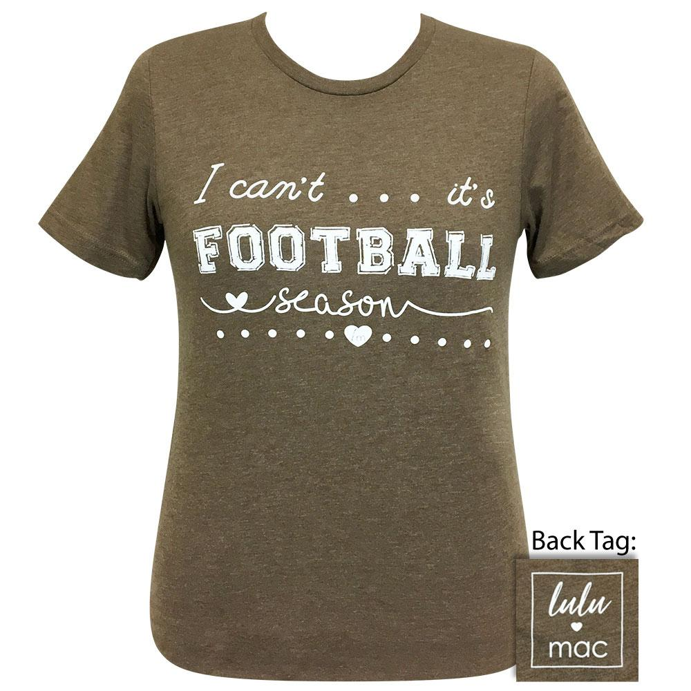 lulu mac 40-Football Season Heather Brown Short Sleeve