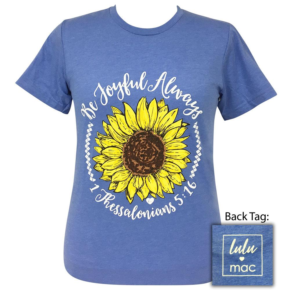 lulu mac-Be Joyful Always Heather Columbia-7 Short Sleeve