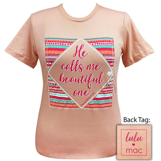 lulu mac-Beautiful One Heather Peach-18 Short Sleeve