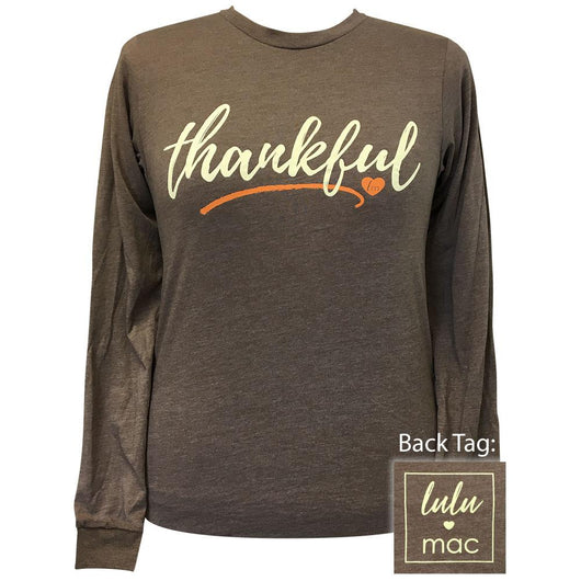 lulu mac 33-Thankful Heather Brown Long Sleeve