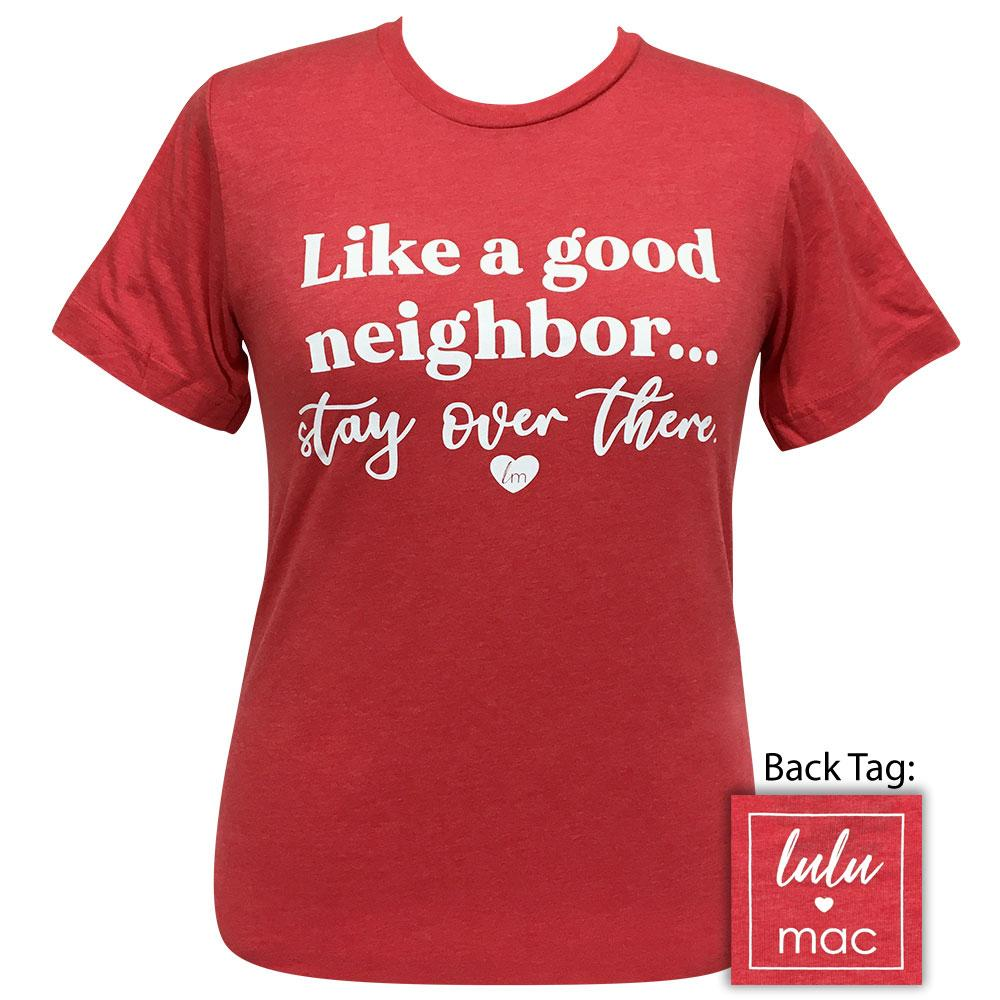 lulu mac 51-Stay Over There Heather Red Short Sleeve