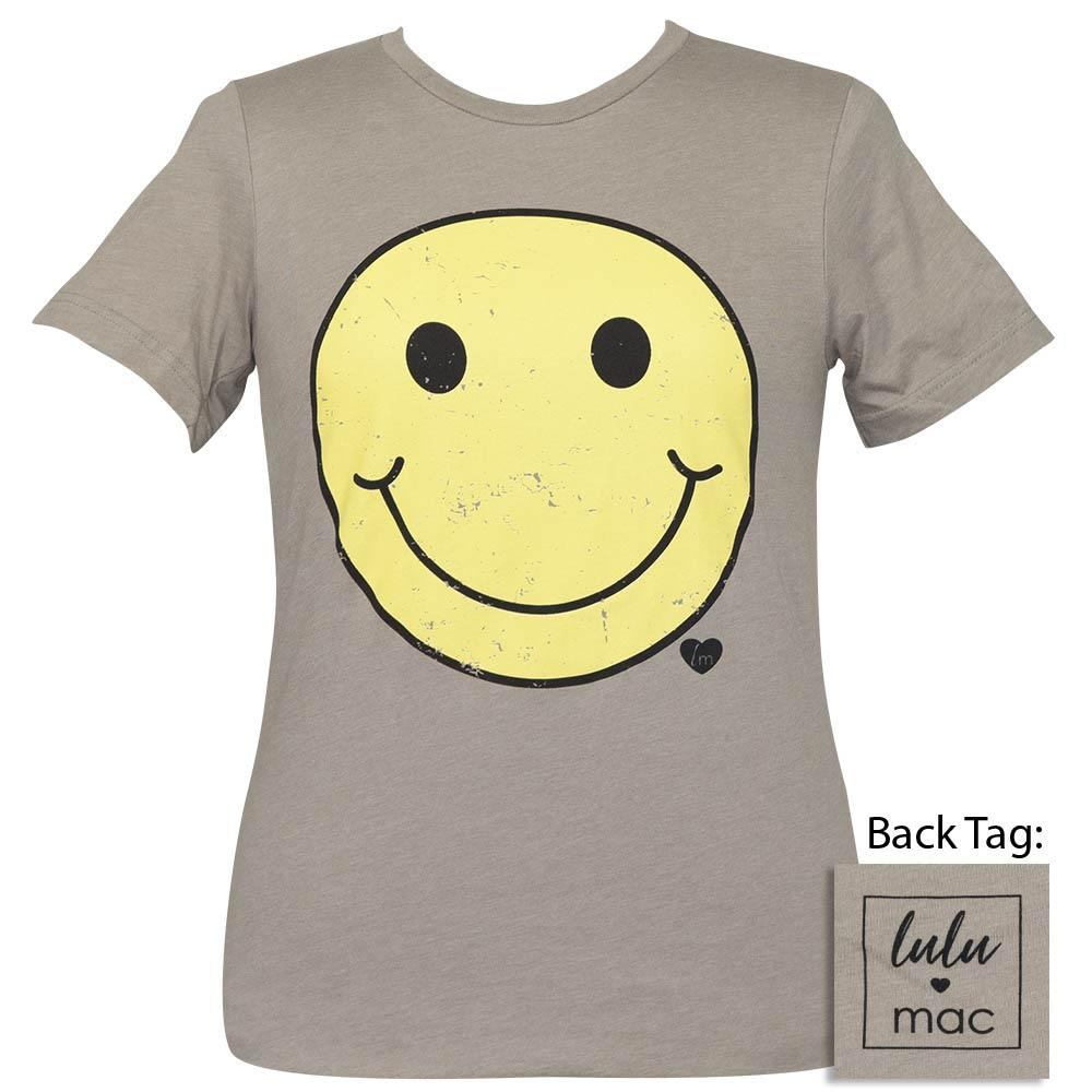 Lulu Mac-Smiley Face-Heather Stone SS-LM61
