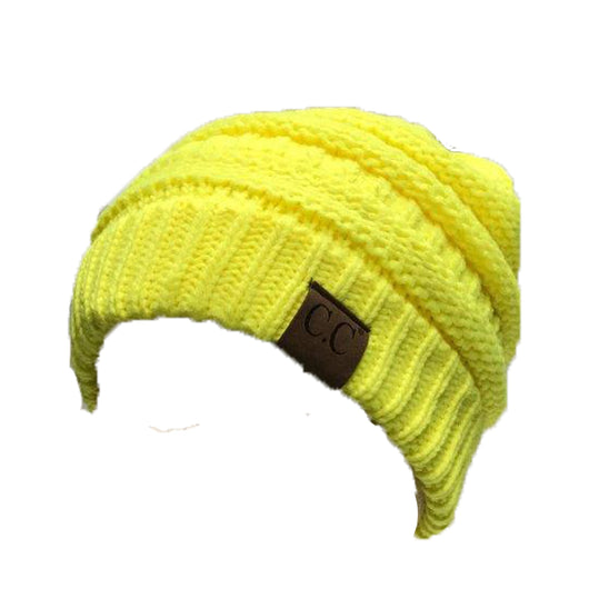HAT-20A BEANIE NEON YELLOW