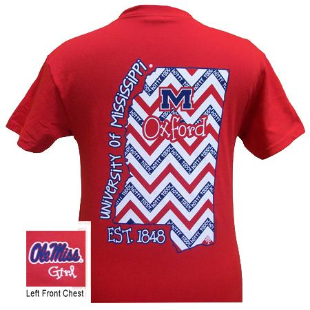 Ole Miss State Chevron Red