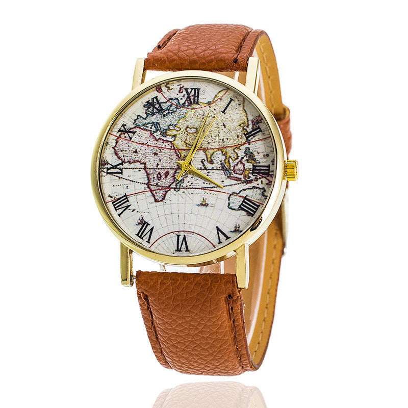 Montre Travel The World (différents coloris) - Le Precurseur