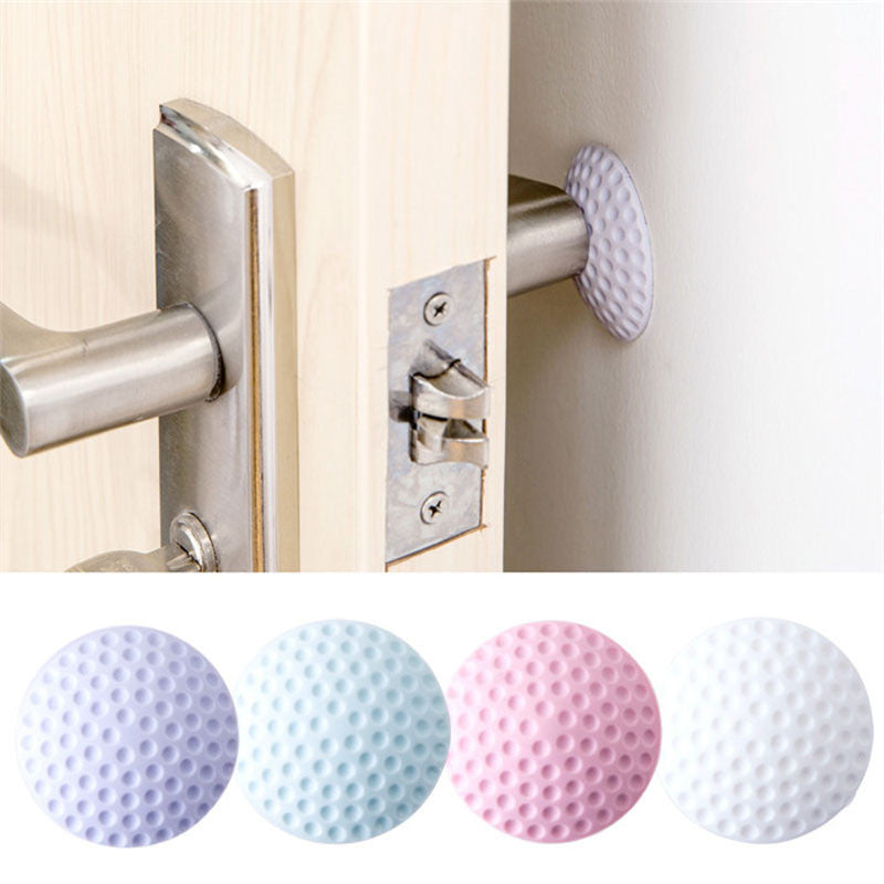 After Wall Thickening Mute Door Fenders Golf Modelling Rubber Fender The Handle Door Lock Protective Pad Protection Wall Stick