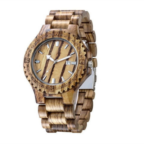 2017 hot sale wooden watch men fashion casual wood quartz watch full natural wooden sets