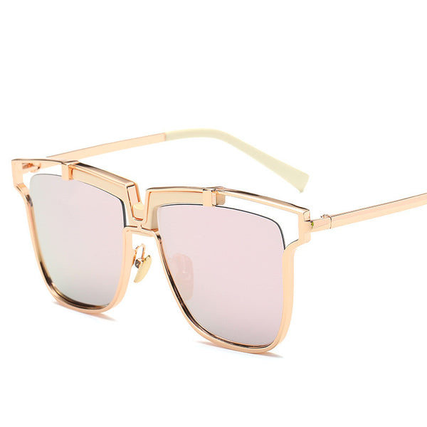 Sunshine Star New Vintage Square Metal Steampunk Sunglasses Women Brand Designer Pink Sun Glasses Driving Men Eyewear Lunettes