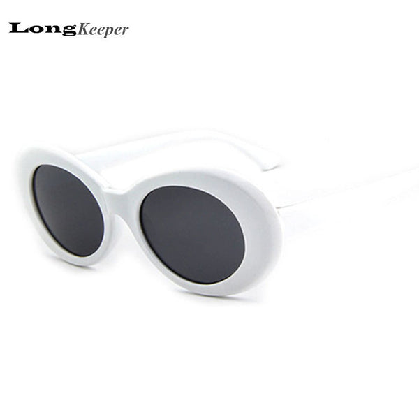 2017 Hot NIRVANA Kurt Cobain Sunglasses Women Men Fahion Female Male Sun Glasses Oval Glasses UV400 Black White Wholesale Price