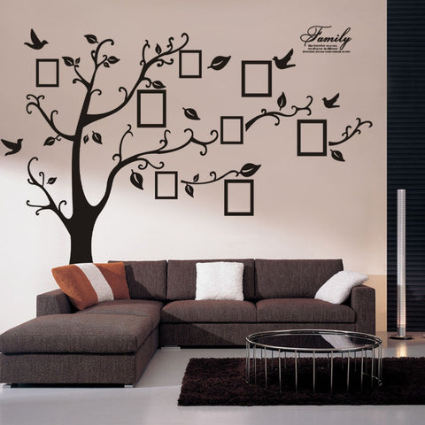 94AB New / 200 * 250cm Black Removable Memory Tree Photo Tree Foreign Trade Wall Sticker Plane Wall Stickers