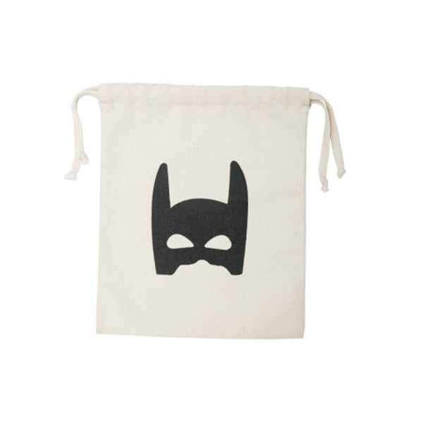 INS 23x27cm Kids Toys Storage Bags Bear Batman Bag Cute Household Canvas Pouch Bag Organizer Bag Storage Bag For Toy And Baby