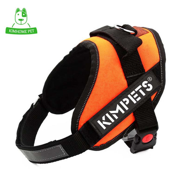 KIMHOME  4 Colors Solid Adjustable Sport Dog Collar Chest Leashes Traction Nylon Training Pads Large Dog Harness Vest