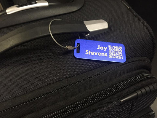 Small Custom QR Code Travel Tag