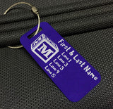 Kids Custom Monogram Luggage Tag / Bag Tag