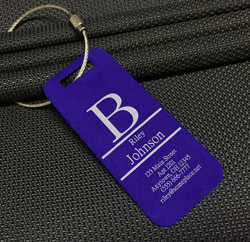 Custom Monogram Luggage Tag / Bag Tag