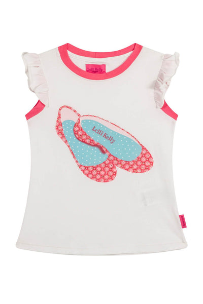 Bea - Top with shoes applique